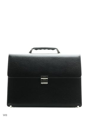 Портфель Petek. Цвет: черный, серый