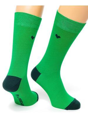 Дизайнерские Носки St.Friday Socks. Цвет: зеленый