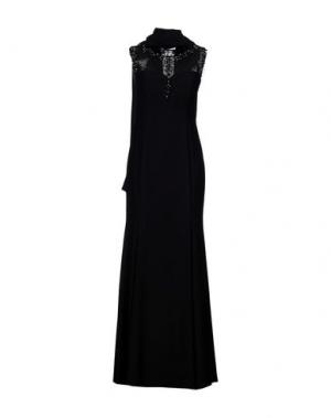 Длинное платье MUSANI COUTURE. Цвет: черный
