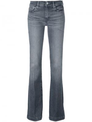 Расклешенные джинсы 7 For All Mankind. Цвет: серый