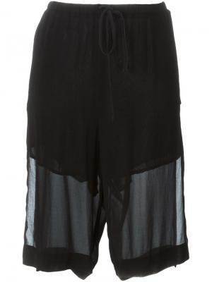 Многослойные шорты Lost & Found Ria Dunn. Цвет: чёрный