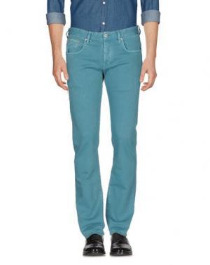 Повседневные брюки RA-RE. Цвет: цвет морской волны