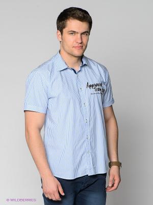 Рубашка MILANO ITALY. Цвет: голубой, белый