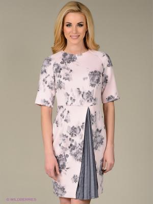 Платье Sweet Me. Цвет: бледно-розовый, серый