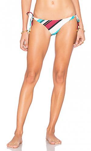 Бикини с длинной завязкой vintage stripe Vix Swimwear. Цвет: белый