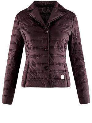 Куртка Oodji. Цвет: лиловый