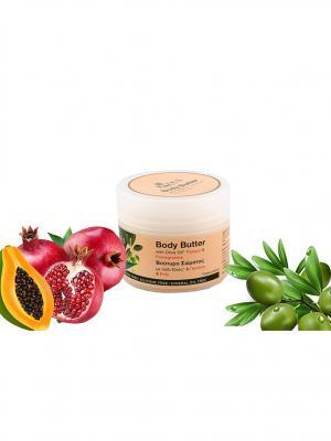 Крем - масло для тела с оливковым маслом и экстрактом папайи граната Rizes Crete. Цвет: розовый