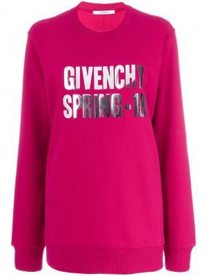 Толстовка foiled Spring-18 Givenchy. Цвет: розовый и фиолетовый