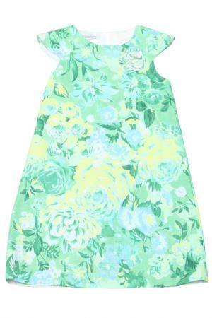 Платье Pinco Pallino. Цвет: зеленый, принт
