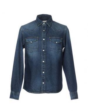 Джинсовая рубашка DEUS EX MACHINA. Цвет: синий