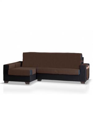 Накидка на угловой диван Иден, левый угол Медежда. Цвет: коричневый