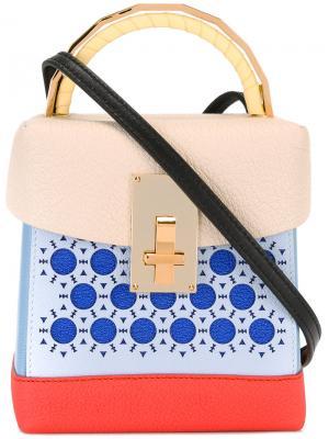 Colour block mini tote The Volon. Цвет: синий