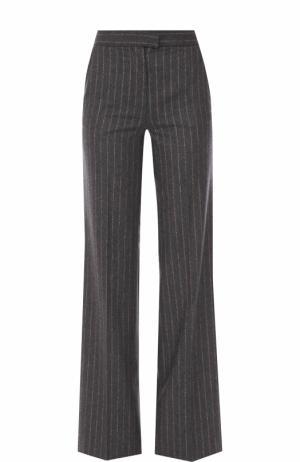 Расклешенные шерстяные брюки со стрелками Kiton. Цвет: темно-серый