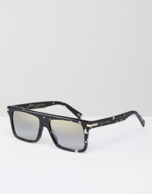 Marc Jacobs Квадратные солнцезащитные очки с эффектом брызг. Цвет: черный