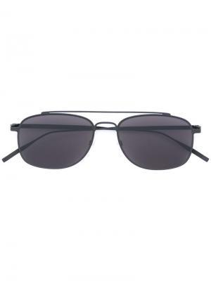 Солнцезащитные очки авиаторы Tomas Maier Eyewear. Цвет: чёрный