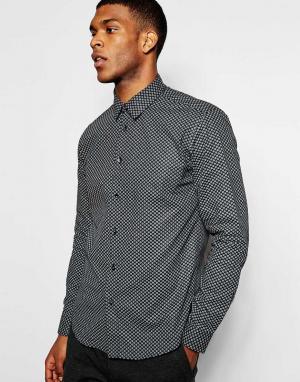 Wincer & Plant Строгая рубашка зауженного кроя с принтом пейсли. Цвет: черный