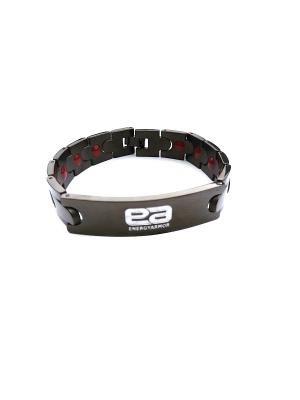 Браслет Mens Black Stainless Steel Bracelet Energyarmor. Цвет: черный
