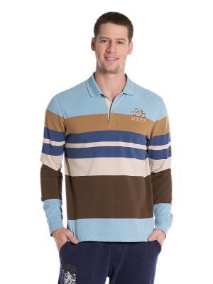 Лонгслив U.S. Polo Assn.. Цвет: коричневый
