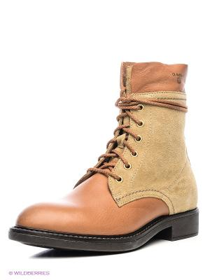 Ботинки GANT. Цвет: светло-коричневый, бежевый