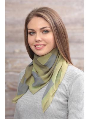 Платок FOMAS. Цвет: оливковый, серый