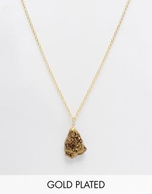 Only Child Ожерелье с подвеской в виде куска золота. Цвет: золотой
