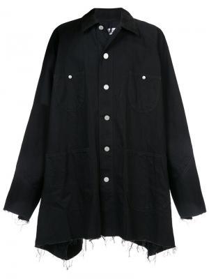 Асимметрчиная джинсовая куртка Kidill. Цвет: чёрный