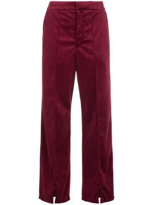 Прямые брюки En Route. Цвет: красный