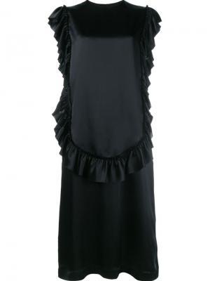 Платье с оборками Simone Rocha. Цвет: чёрный