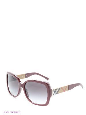 Солнцезащитные очки BURBERRY. Цвет: бордовый