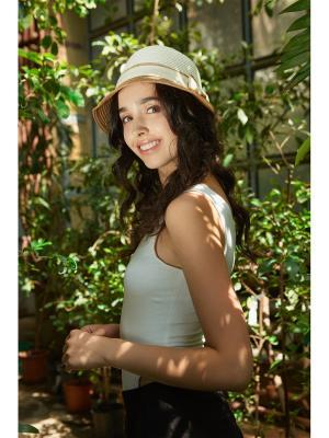 Шляпа Теплые Пески Бора Nothing but Love. Цвет: кремовый, светло-коричневый