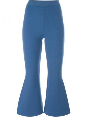 Расклешенные брюки с молниями Stella McCartney. Цвет: синий
