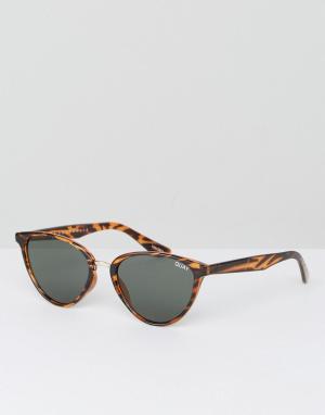 Quay Australia Солнцезащитные очки кошачий глаз в черепаховой оправе R. Цвет: коричневый