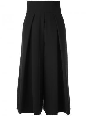 Укороченные брюки-палаццо Milly. Цвет: чёрный