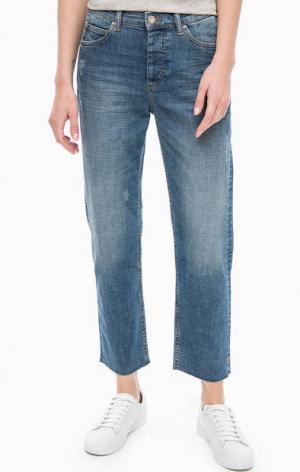 Укороченные синие джинсы с необработанным краем Marc O'Polo. Цвет: синий