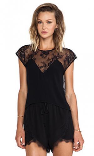 Блузка emrey Lovers + Friends. Цвет: черный