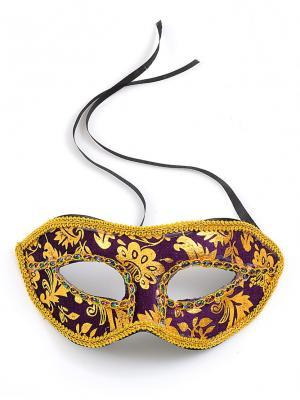 Маскарадная маска  Незнакомка ФЕСТА. Цвет: темно-фиолетовый, золотистый