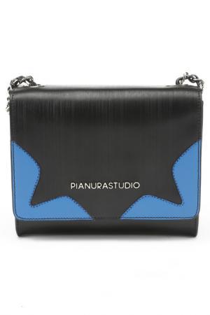 Клатч Pianurastudio. Цвет: черный, синий