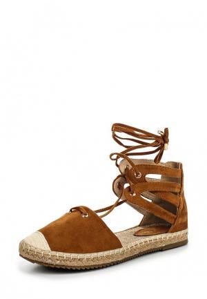 Эспадрильи Sweet Shoes. Цвет: коричневый