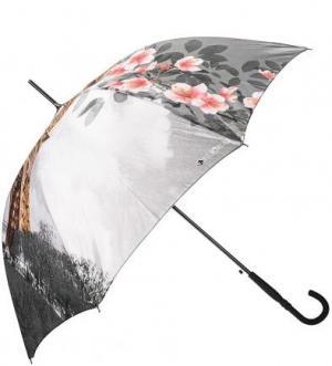 Зонт-трость с системой антиветер FLIORAJ. Цвет: цветочный принт
