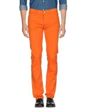 Повседневные брюки D-21. Цвет: оранжевый