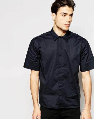 ADPT Oversize-рубашка с короткими рукавами. Цвет: черный