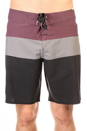 Шорты пляжные  Classicpanel Black Quiksilver. Цвет: бордовый,серый,черный