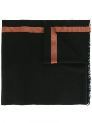 Двухцветный шарф Berluti. Цвет: чёрный