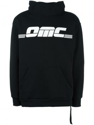 Толстовка с принтом логотипа Omc. Цвет: чёрный