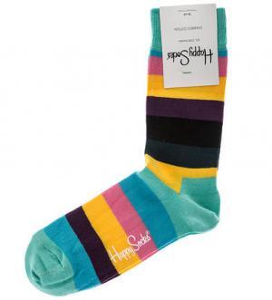 Разноцветные высоки носки в полоску Happy Socks. Цвет: полоска