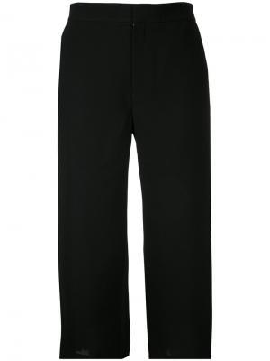 Плиссированные брюки Georgette Le Ciel Bleu. Цвет: чёрный