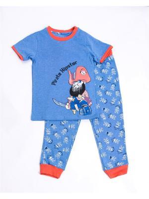 Пижама: футболка, брюки Mark Formelle. Цвет: синий, белый, красный