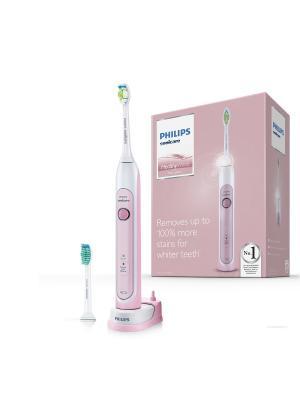 Электрическая зубная щетка Sonicare HealthyWhite HX6762/43 Philips. Цвет: белый, розовый