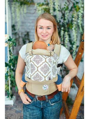Эргономичный рюкзак Ажур Sling Me. Цвет: бежевый
