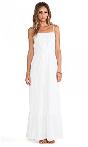 Макси платье с кружевом Twelfth Street By Cynthia Vincent. Цвет: белый